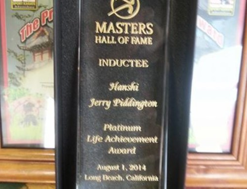 Hanshi Piddington inducted in Master's Hall of Fame