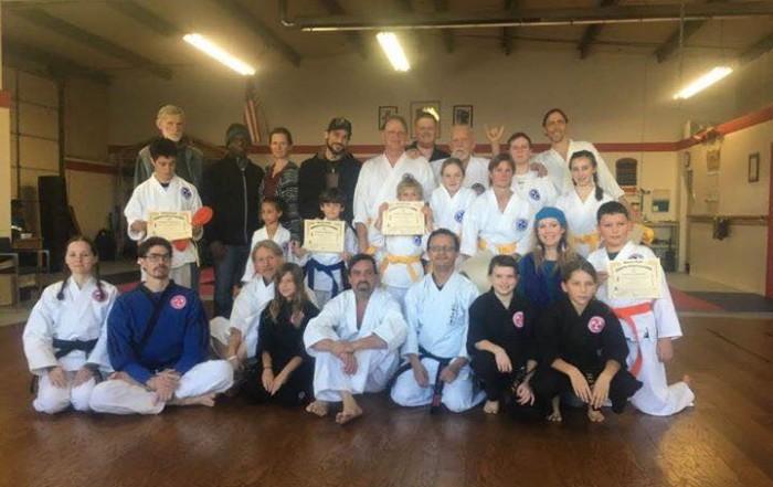 December Belt Test Ashland Karate Academy